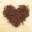 Stock Photo: Heart Shape Chocolate Sprinkles