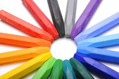 Row Of Crayons — Stock Photo