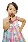 Küçük kız makyaj — Stok fotoğraf