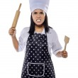 Mad Woman Chef — Stock Photo