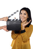 Young Woman Acting — Stock Photo