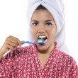 Woman Brushing Her Teeth — Stock Photo #29937775