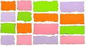 Bränt papper samling isolerade över vit bakgrund — Stockfoto