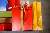 Beaucoup de boîtes-cadeaux — Photo