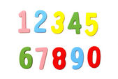 Wooden Numbers — Stock Photo