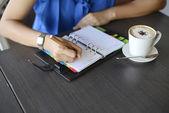 Hand write notebook — Stock Photo