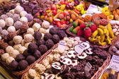 Sweets in Boqueria in Barcelona — Stock Photo