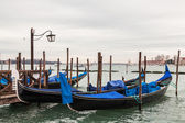 Gondolas on the canal, Venice, Italy — Stock Photo