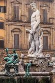 Neptun fontain - near Palazzo Vecchio, Florence, Italy — Stock Photo