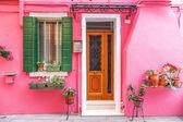 Colorful houses taken on Burano island, Venice — Stock Photo