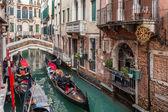 Gondola ride, Venice, Italy — Stock Photo