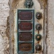 Brass doorbell. Venice. Italy — Stock Photo #43396223