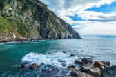 Cliffs in Riomaggiore. Cinque Terre, Liguria, Italy — Stock Photo