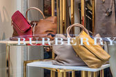 Milan - FEB 8: Exterior of Burberry shop  in Milan, Italy — Stock Photo