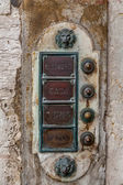 Brass doorbell. Venice. Italy — Stock Photo