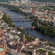 Frankfurt on the Main from bird's eye view — Stock Photo #47312261