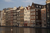 Houses in Amsterdam in the evening — Stock Photo
