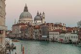 Canal Grande with Basilica di Santa Maria della Salute, Venice, Italy — Stock Photo