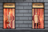 FENDI - MILAN, FEBRUARY 9: Fendi shop in Milan on Feb 9, 2014 — Stock Photo