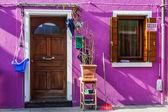 Colorful house in Burano island, Venice, Italy — Stock Photo