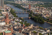 Frankfurt on the Main from bird's eye view — Stock Photo