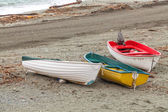 Boats on the beach, Cinque Terre, Italy — Stock Photo