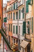 Cinque Terre narrow street, Italy — Stock Photo