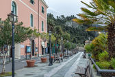 Cinque Terre street by the sea, Italy — Stock Photo