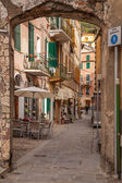 Colorful narrow street in the Cinque Terre, Italy — Stock Photo