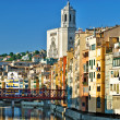 Girona - river Onyar view, Spain — Stock Photo