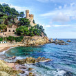 Mediterranean sea at the Costa Brava - Stock Photo