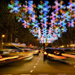 Christmas time in downtown Barcelona, Spain — Stock Photo