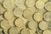 Background of a multitude of 50 EUROcent coins — Stock Photo