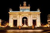 """Town gate """"Porta de la Mar"""", Valencia, Spain — Stock Photo"""