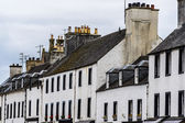Scottish town houses — Stock Photo