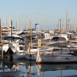 Yachts in the port — Stock Photo