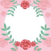 Flower and leaf frame background illustration. — Stock Vector