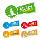 Merry Christmas stickers — Stock Vector