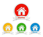 Vector home icons — Stock Vector