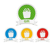 Colorful gift icons — Stock Vector