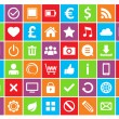 Stock Vector: Colored Icons For Web and Mobile