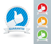 Vector set of guarantee labels — Stock Vector