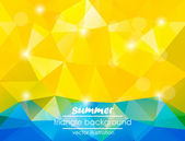 Summer triangle background for your text — Stock Vector