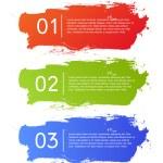 Brush strokes infographics options banner — Stock Vector