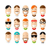 Happy smiling male faces — Stock Vector