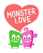 Monster love — Stock Vector
