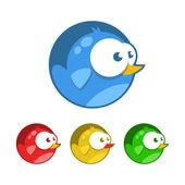 Bird icons - vector illustration — Stock Vector