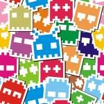 Pixel monster seamless pattern — Stock Vector #8903236