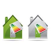 Energy saving certificate concept, green building concept — Stock Vector