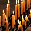 Candles in the dark — Stock Photo